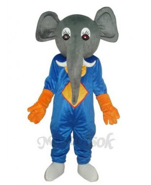 Elephant Mascot Adult Costume