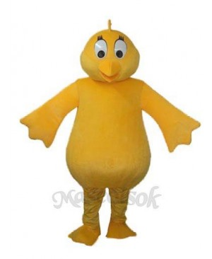 Big Belly Yellow Chicken Adult Mascot Costume