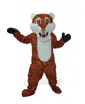 Reddish Brown Stripe Tiger Adult Mascot Costume