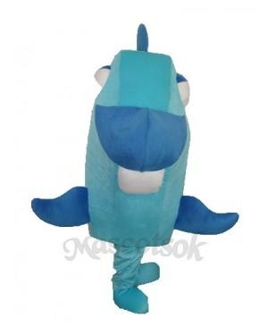 Blue Fish Mascot Adult Costume