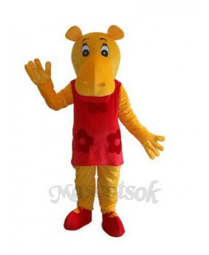 Miss Hippo Hippopotamus Mascot Adult Costume