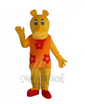 Old Hippopotamus Mascot Adult Costume