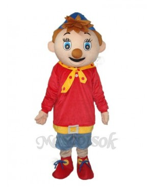 Black Mouth Pinocchio Mascot Adult Costume