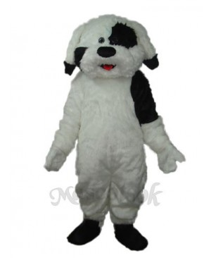 Long Haired Colourful Dog Mascot Adult Costume