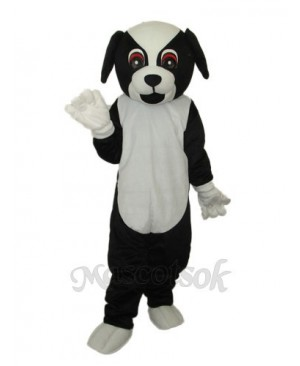 Black Dog Mascot Adult Costume
