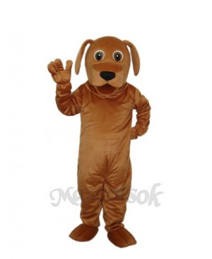 Golden Dog Mascot Adult Costume