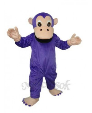 Purple Gorilla Mascot Adult Costume