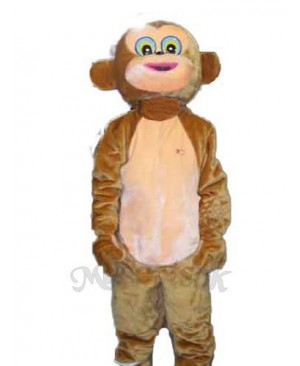 Happy Monkey Mascot Adult Costume