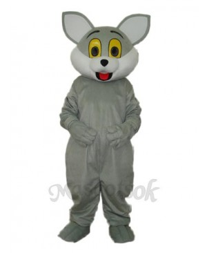 Grey Cat Mascot Adult Costume