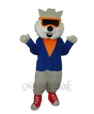 Cat Wear Glasses Mascot Adult Costume