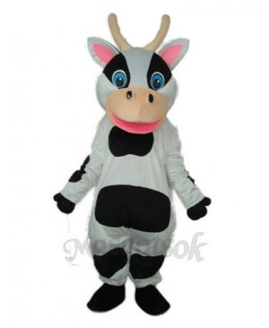Black Dot Cow Mascot Adult Costume