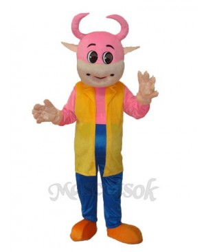 No.1 Cow Mascot Adult Costume