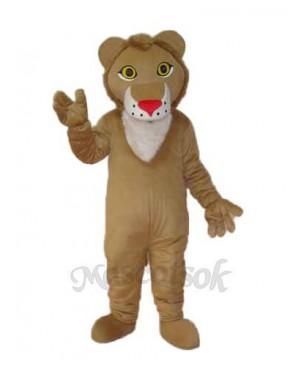 Yellow Lion Mascot Adult Costume
