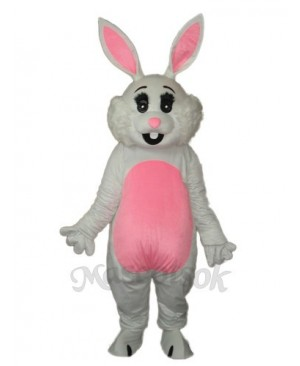 Easter Pink Ears Rabbit Mascot Adult Costume