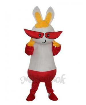 Easter Yellow Hat Rabbit Mascot Adult Costume