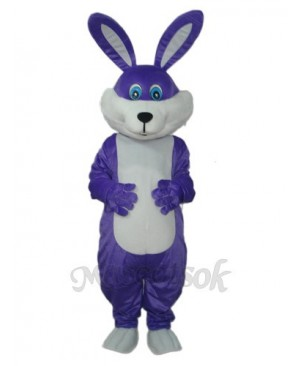 Easter Purple Rabbit Mascot Adult Costume