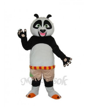 Short wool Kung Fu Panda Mascot Adult Costume