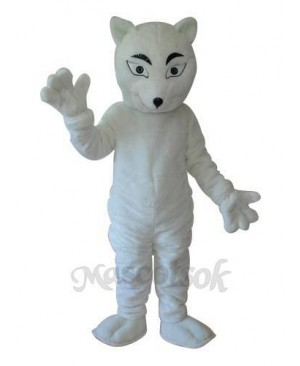 White Fox Mascot Adult Costume