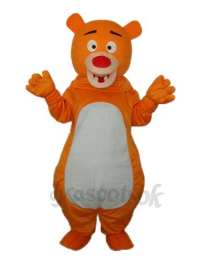 Short-haired Orange Bear Mascot Adult Costume
