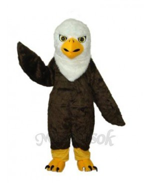 Long Wool Eagle Mascot Adult Costume