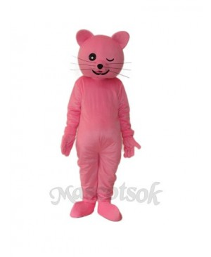 Pink Cat Mascot Adult Costume