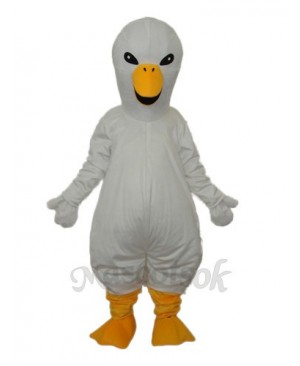 White Swan Mascot Adult Costume