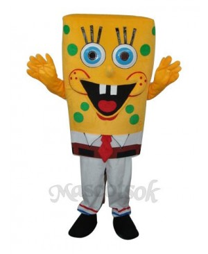 6th Version  SpongeBob Mascot Adult Costume