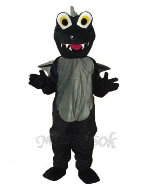 Black Dinosaurs Mascot Adult Costume