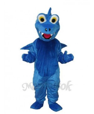 Blue Thorn Dragon Mascot Adult Costume