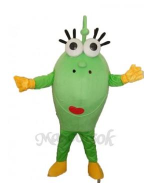 Big Green Eyes Monster Mascot Adult Costume