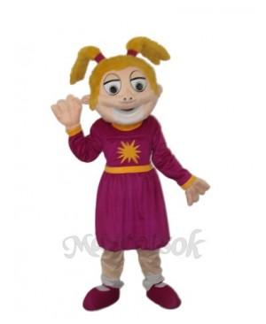 Laughing Girl Mascot Adult Costume