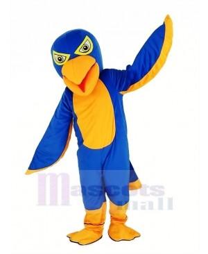 Royal Blue and Orange Falcon Mascot Costume Animal
