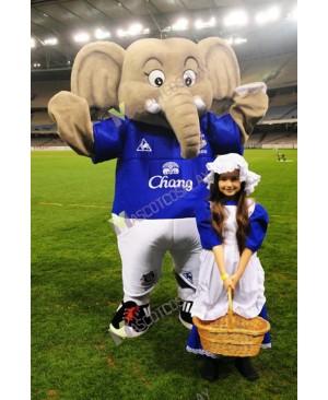 Changy The Elephant Mascot Costume Everton Football Club Mascot Costume