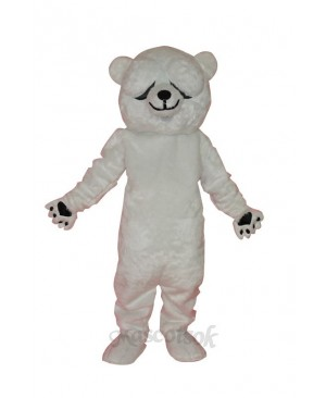 Simple and honest polar bears adult mascot costume