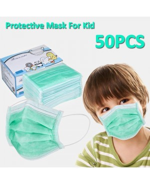 50Pcs Disposable Masks For Children CE Certified 3 Ply Non-woven Filter Bacteria Face Masks Set
