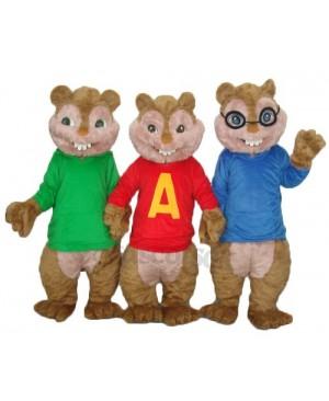 Alvin Simon and Theodore Chipmunk Mascot Adult Costume