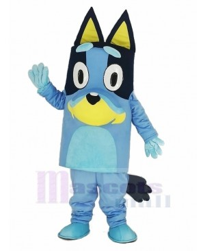 Blue Dog Mascot Costume Animal