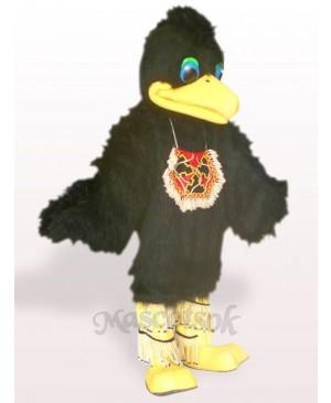 Black Hair Bird Plush Adult Mascot Costume