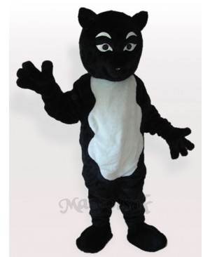 Black Skunk Adult Mascot Costume