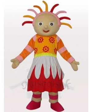 Bright Sunshine Girl Adult Mascot Costume