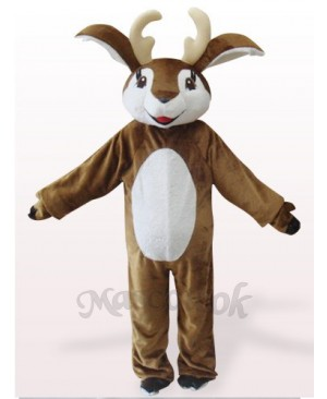 Brown And White Deer Plush Mascot Costume