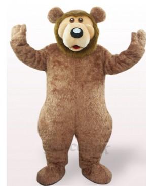 Brown Bear Plush Adult Mascot Costume