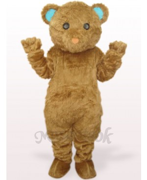 Brown Long Hair Bear Plush Adult Mascot Costume