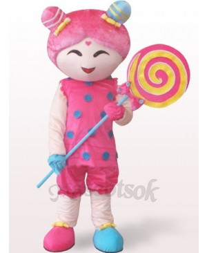 Candy Girl Plush Adult Mascot Costume