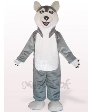 Gray Sled Wolf Dog Plush Mascot Costume