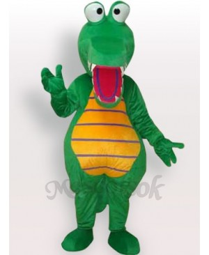 Green Crocodile Short Plush Adult Mascot Costume