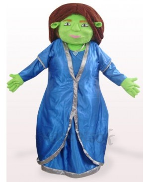 Green Fiona Plush Mascot Costume