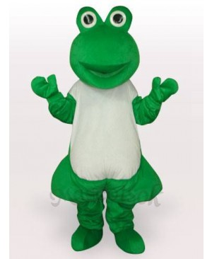 Green Frog Short Plush Adult Mascot Funny Costume