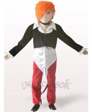 Handsome Boy Plush Adult Mascot Costume