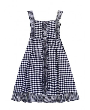 Mori Style Lattice Overskirt Sweet Lolita Sling Dress